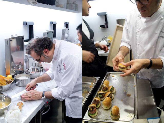 Il grande chef Massimo Bottura e l'hamburger