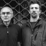 Andrey Mironov (sinistra) con il fotoreporter Andy Rocchelli (fonte: Ansa/Cesura)