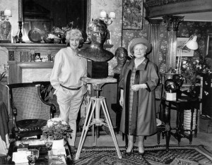 With the Queen Mother 1983
