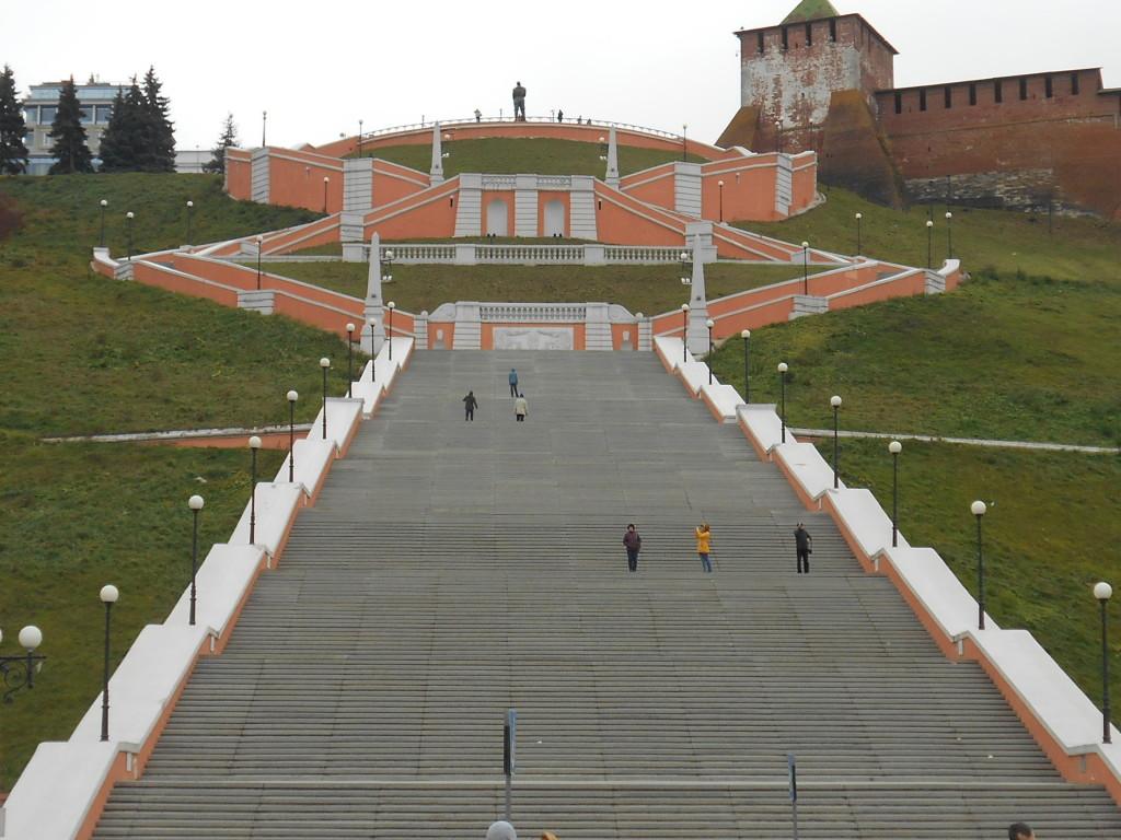 Foto di G. Prandini. La scalinata al Cremlino di Nižnij Novgorod