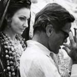"""Pier Paolo Pasolini sul set di """"Medea"""" con Maria Callas (1969)."""