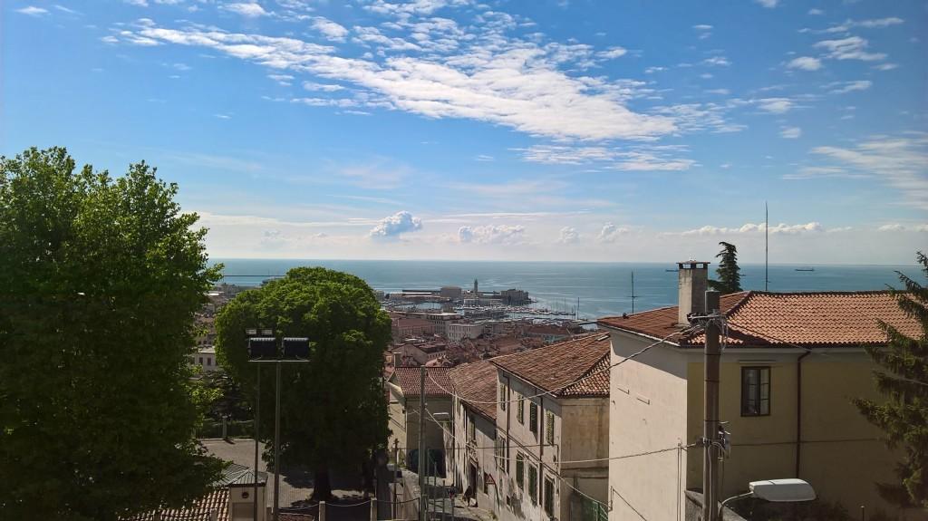 la vista dal nuovo PAG a San Giusto (Trieste), spazio dedicato ai giovani