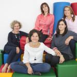 Le fondatrici dell'associazione Clic Trieste: Gabriella Tull, Laura Pomicino, Maria Grazia Apollonio, Erica Costantini, Susanna Cucchi (Foto di Neva Martelanz)